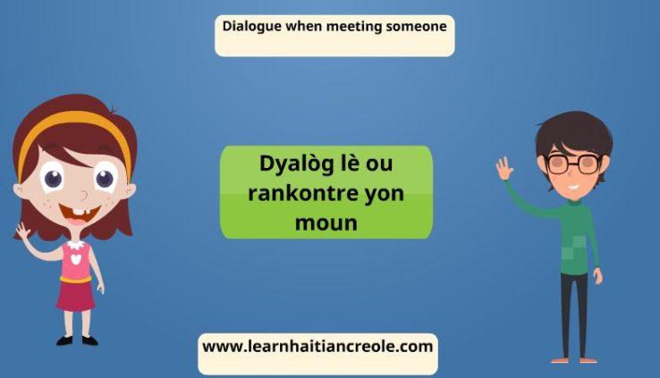 haitian creole dialogue