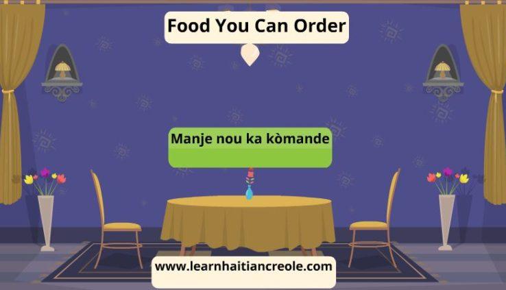 food in haitian creole