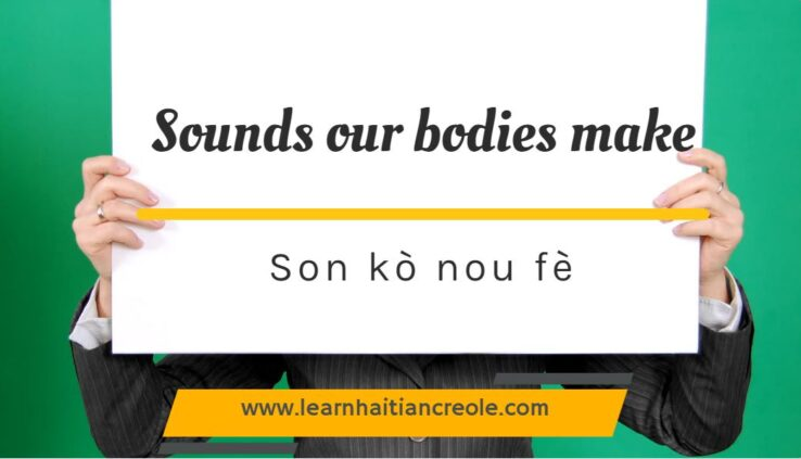 sounds in Haitian creole